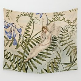 """""""Fairy Resting Among Flowers"""" by Amelia Jane Murray Wall Tapestry"""
