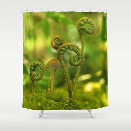 Mushroom In The Ferns... Shower Curtain