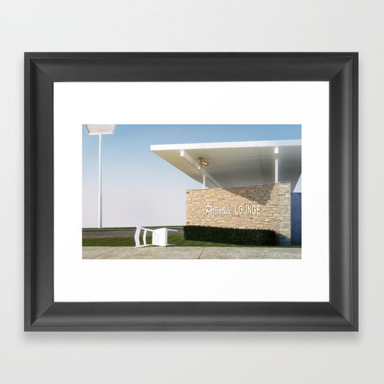 Paradise Lounge Framed Art Print