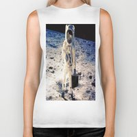 lawyer Biker Tanks featuring Astronaut lawyer  by rivercbishop