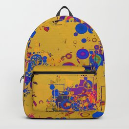 Vibrant Multi Color Abstract Design Backpack