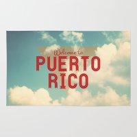 puerto rico Area & Throw Rugs featuring Puerto Rico by Ákos Kőrös