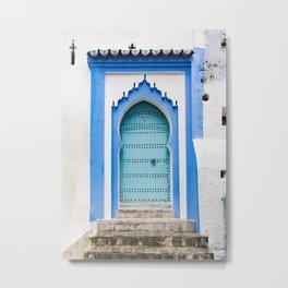 Doors - Chefchaouen, Morocco Metal Print