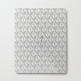 Goyard White Metal Print