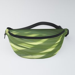 Ruffled Fan Palm Glossy Pleated Fronds Shadow Photograph Fanny Pack