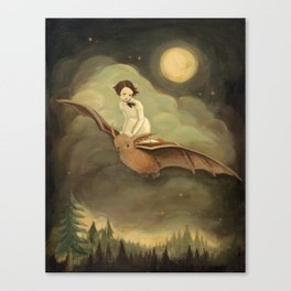 Flying By Night Canvas Print