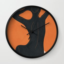 Abstract Nude I Wall Clock