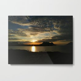 Sunset in Steigen Metal Print