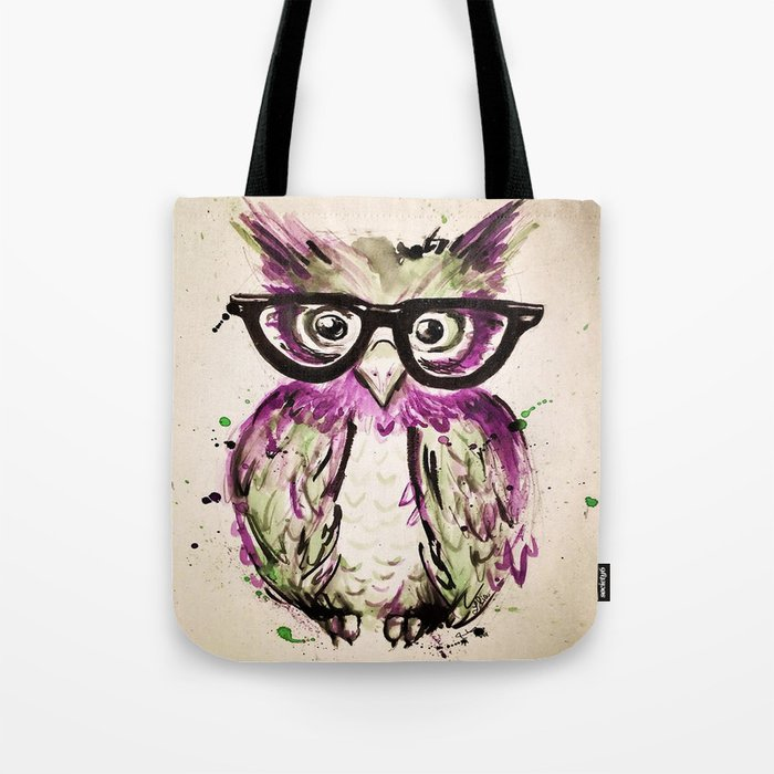Owl Tote Bag By Larissarialoomans