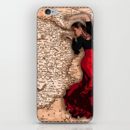 bailarína de flamenco iPhone Skin