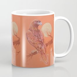 Golden Eagle Fancy Illustration of fairy tale Pastel drawing Coffee Mug