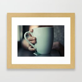 tea time. Framed Art Print