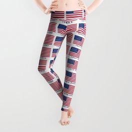 American Flag History Leggings