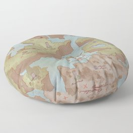 Super Mario World Map (Vintage Style) Floor Pillow