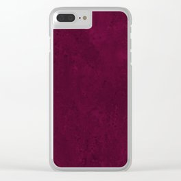 Hand painted modern abstract burgundy marble watercolor Clear iPhone Case
