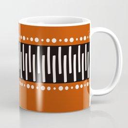 Bohemian orange, black&white tribal vibe Coffee Mug
