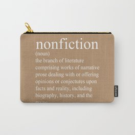 Nonfiction Definition Carry-All Pouch