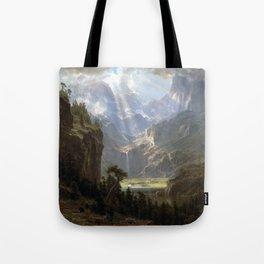 Albert Bierstadt Rocky Mountains, Lander's Peak Tote Bag