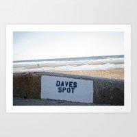 Daves Spot. Art Print