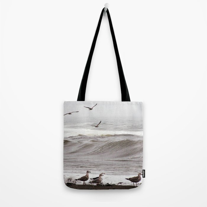 Seagulls and the Surf Tote Bag