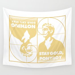 Stay (Nothing Gold Can Stay) Ponyboy Wall Tapestry