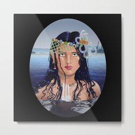 Plastic Southern California Mermaid Metal Print