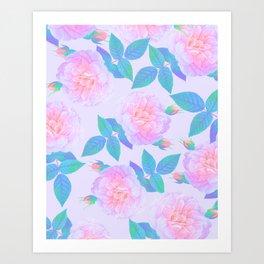 Bubblegum Pink Flora Art Print