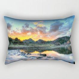 Sunset Landscape #river Rectangular Pillow