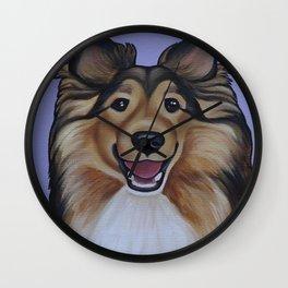 """Rough Collie """"Lassie"""" Portrait Wall Clock"""