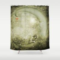 luna Shower Curtains featuring Luna by eMBie