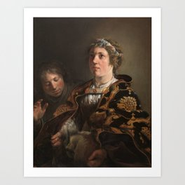 BRAY, SALOMON DE Amsterdam, 1597 - Haarlem, 1664 Judith offering the Head of Holofernes 1636. Art Print
