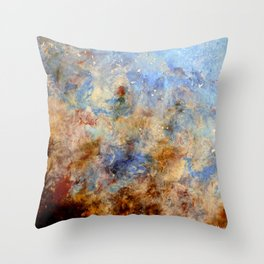 Gentle Shores - Original Abstract Art by Vinn Wong Throw Pillow