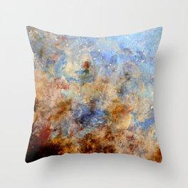 Gentle Shores - Original Abstract Art by Vinn Wong Throw Pillow