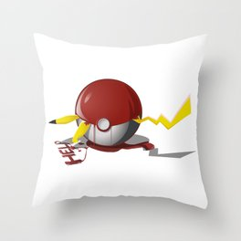 Yellow Nigtmare! Throw Pillow