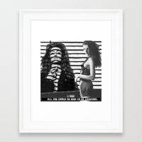 allyson johnson Framed Art Prints featuring Shelly Johnson by Erin Case