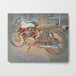 Vintage Triton Cafe Racer - Circa 1952 Metal Print
