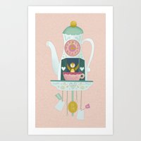 Tea time cuckoo clock Art Print