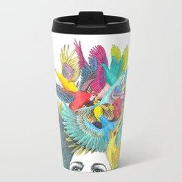 Head full of birds Travel Mug