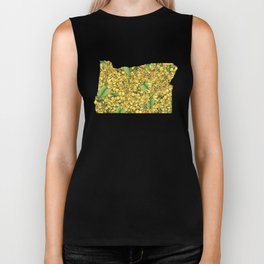 Oregon in Flowers Biker Tank