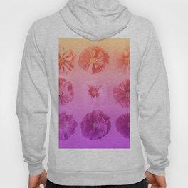 Purple Gradient Flower Grid Hoody