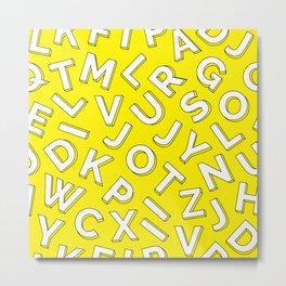 Vector Illustration White Yellow Pattern Children Learning Metal Print