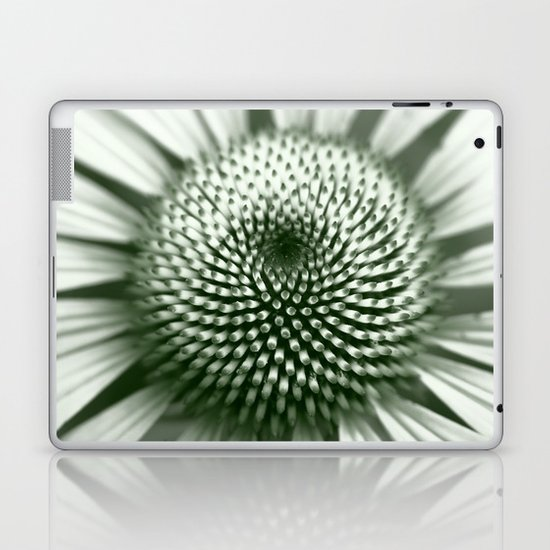 Black and White Flower Core Laptop & iPad Skin