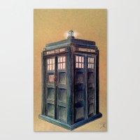 tardis Canvas Prints featuring TARDIS by Jordan