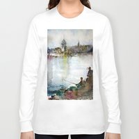 fishing Long Sleeve T-shirts featuring Fishing by Baris erdem