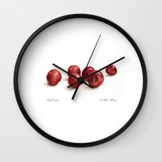 Red Plums Wall Clock