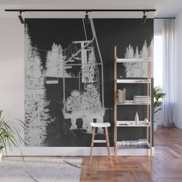 Inverted Ski Lift Wall Mural
