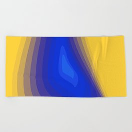 Blue and yellow Beach Towel