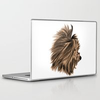 yorkie Laptop & iPad Skins featuring Burt Reynolds the Yorkie  by Rachel Barrett