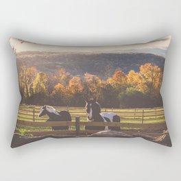 New England Fall Drive Rectangular Pillow