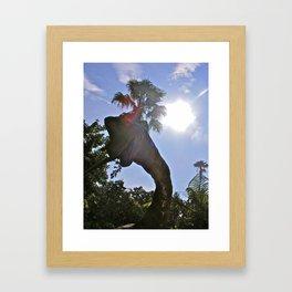 Jurassic Voyage II. Framed Art Print